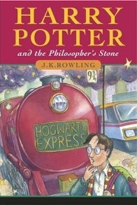 Cover of Harry Potter and the Philosopher's Stone, the first in the series of seven books